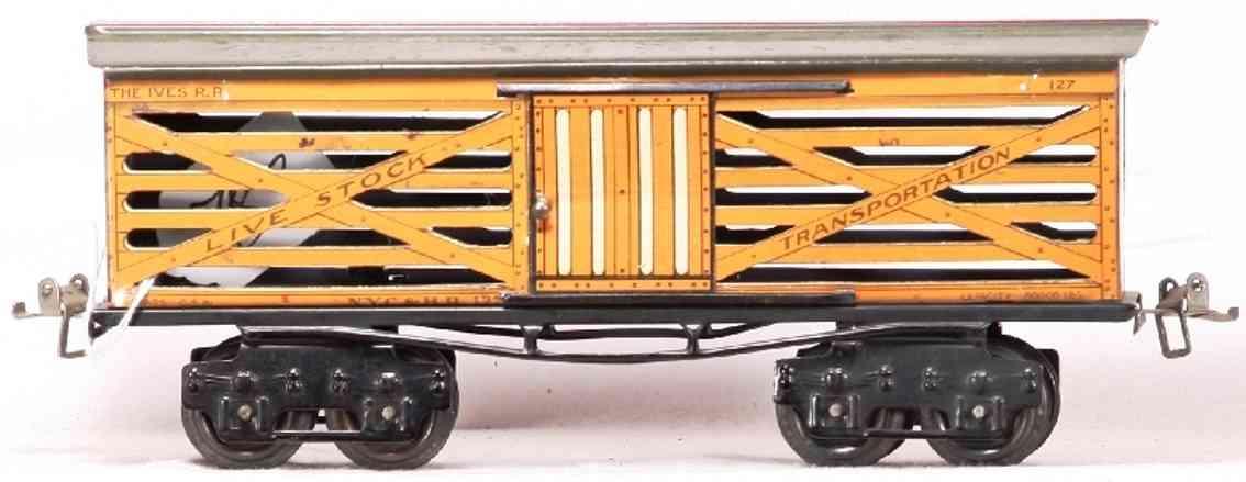 ives 127 1914 viehwagen spur 0 live stock transportation