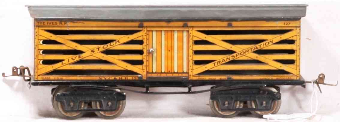 ives 127 1918 viehwagen spur 0 live stock transportation