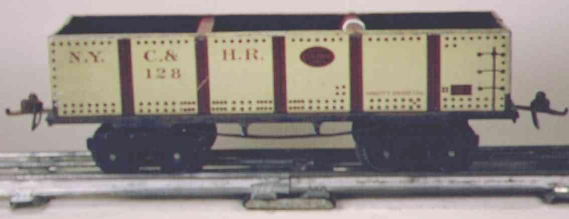 ives 128 1915 spielzeug eisenbahn kieswagen grau spur 0