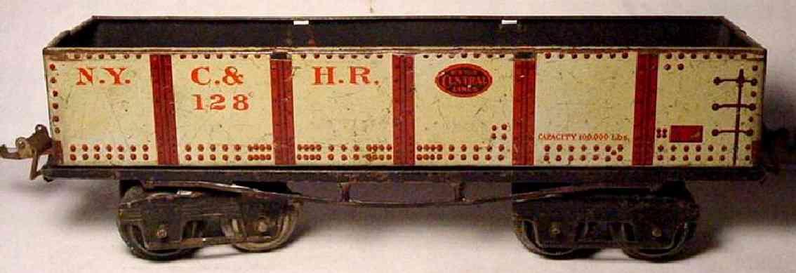 ives 128 1918 spielzeug eisenbahn kieswagen hellgrau spur 0