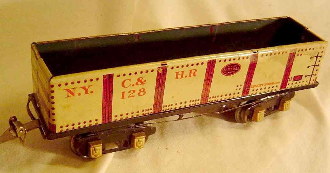 ives 128 1927 spielzeug eisenbahn kieswagen hellgrau spur 0
