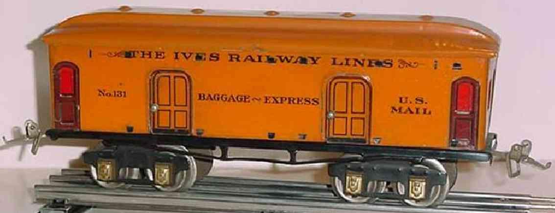 ives 131 spielzeug eisenbahn gepaeckwagen in orange spur 0