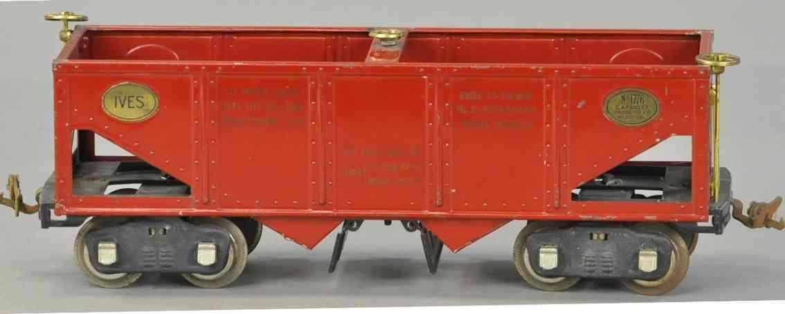 ives 1776 spielzeug eisenbahn schuettgutwagen rot wide gauge