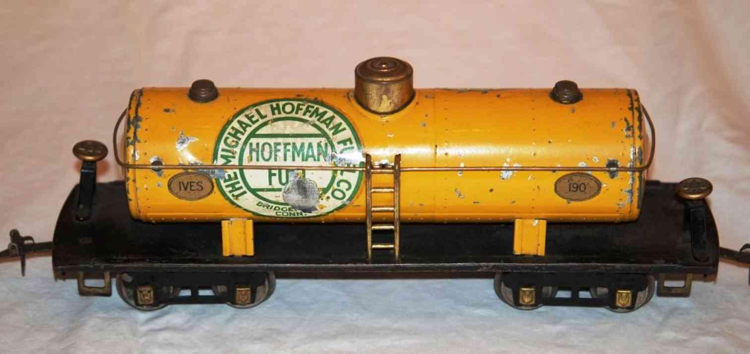 ives 190 1929 railway toy texas oil tank car hoffman wide standard gauge