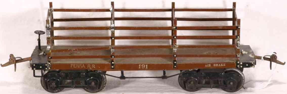 ives 191 1922 spielzeug eisenbahn kokswagen dunkelbraun goldfarben wide standard gauge