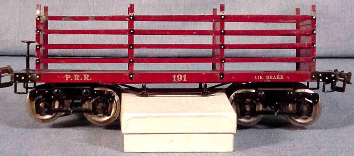 ives 191 1922 spielzeug eisenbahn kokswagen roetlich braun silberfarben wide gauge