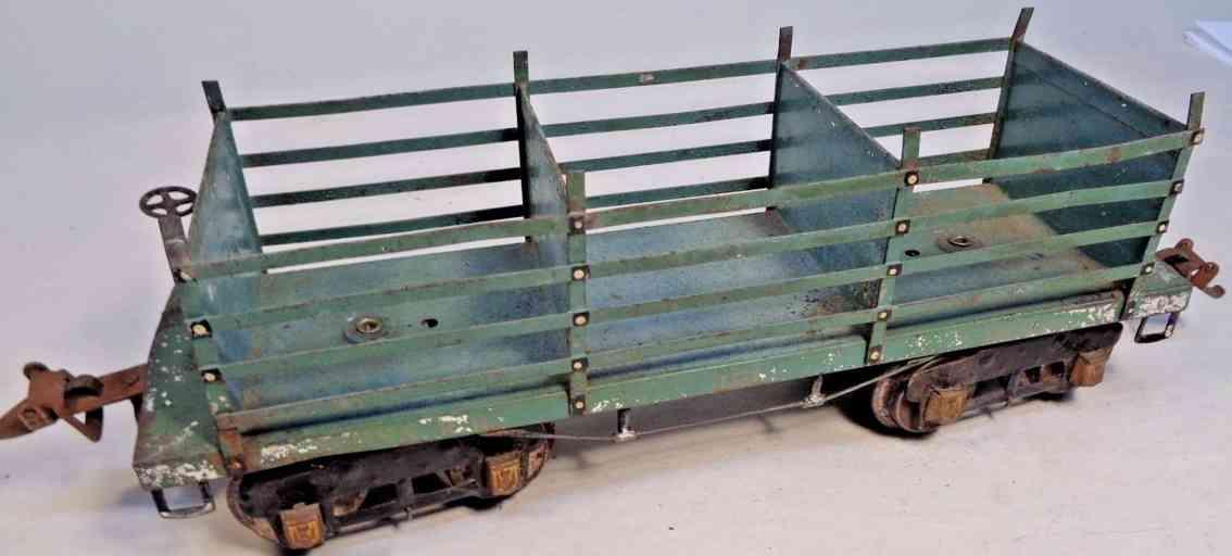ives 191 spielzeug eisenbahn kokswagen penna rr kadettblau silbern  wide gauge