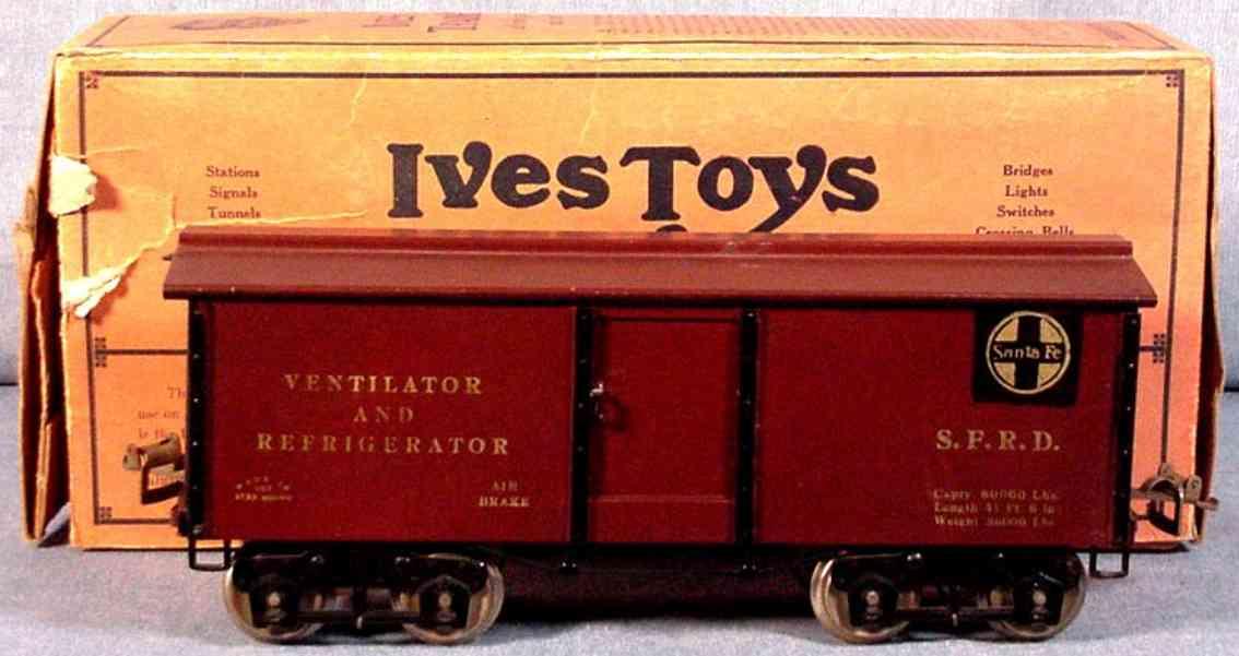 ives 192 1923 spielzeug eisenbahn kuehlwagen braun wide standard gauge