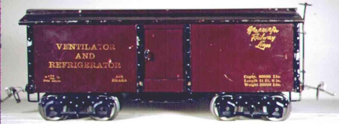 ives 192 1924 spielzeug eisenbahn kuehlwagen wanamaker wide standard gauge