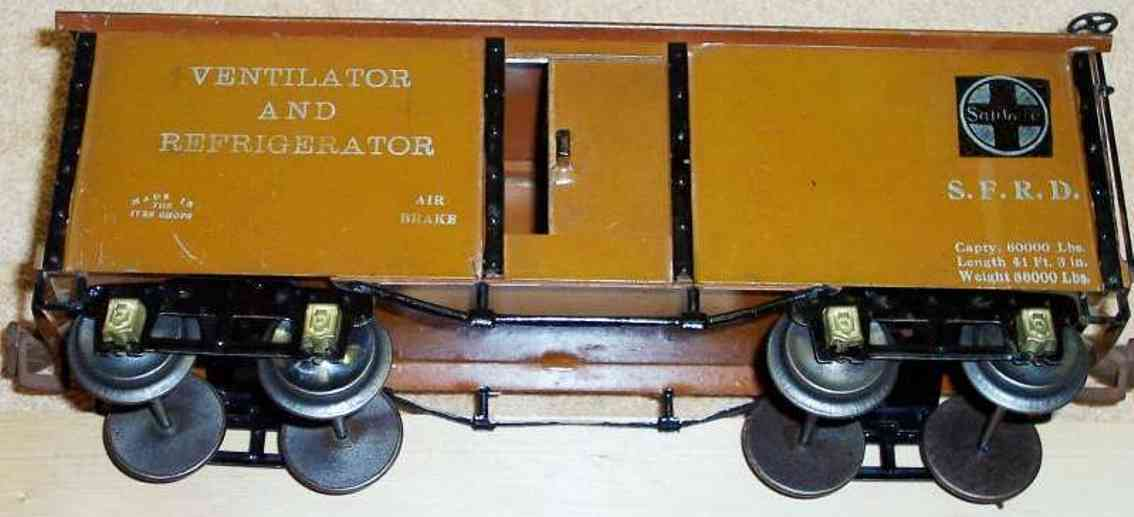 ives 192 1926 spielzeug eisenbahn kuehlwagen blass gruen wide gauge