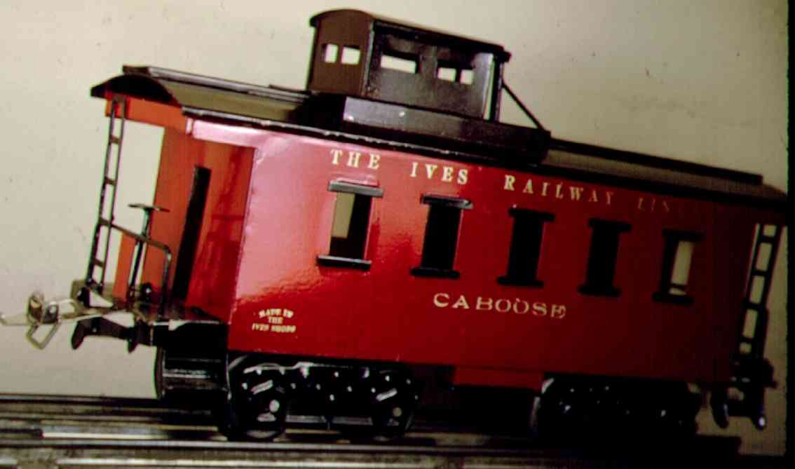 ives 195 1922 spielzeug eisenbahn caboose