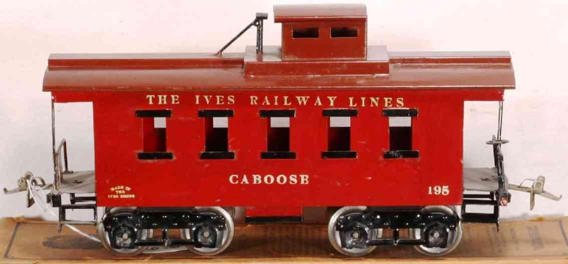 ives 195 1924 spielzeug eisenbahn caboose
