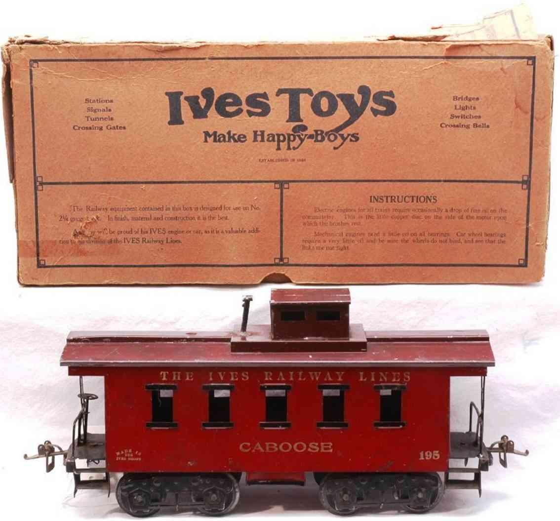 ives 195 1925 spielzeug eisenbahn caboose