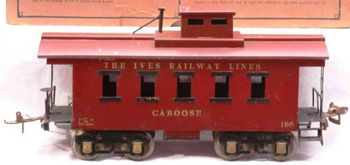 ives 195 1927 spielzeug eisenbahn caboose