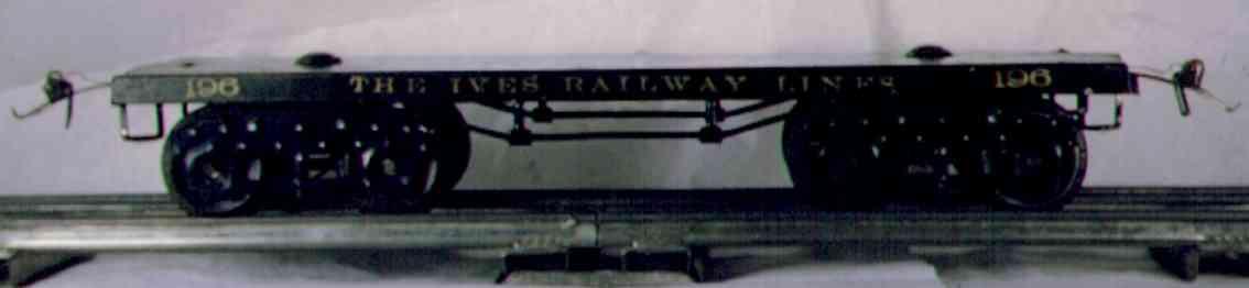 ives 196 1922 spielzeug eisenbahn flachwagen in dunkelgruen wide gauge
