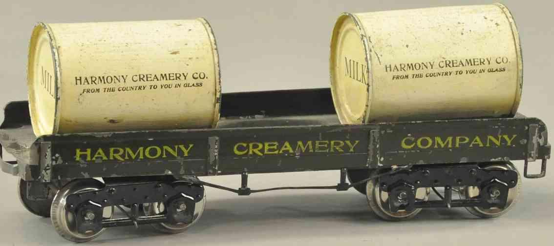 ives 196 harmony creamery company pittsburgh spielzeug eisenbahn flachwagen wide standard gauge