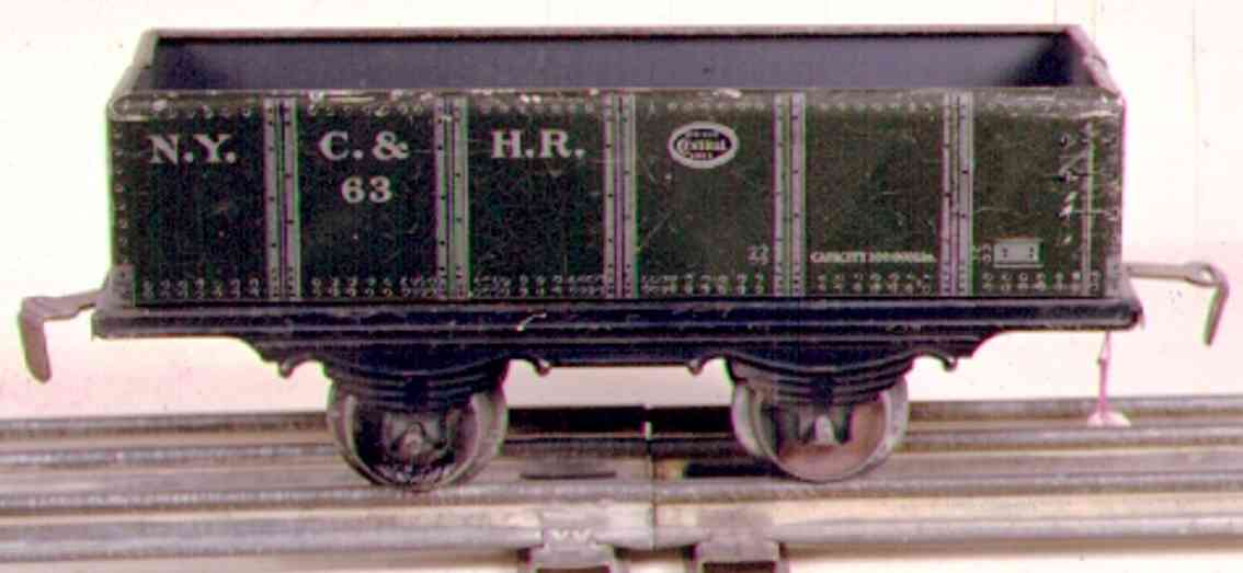 ives 553 (563) (1913) railway toy gravel car, in the first years it was cataloged as no. 553.