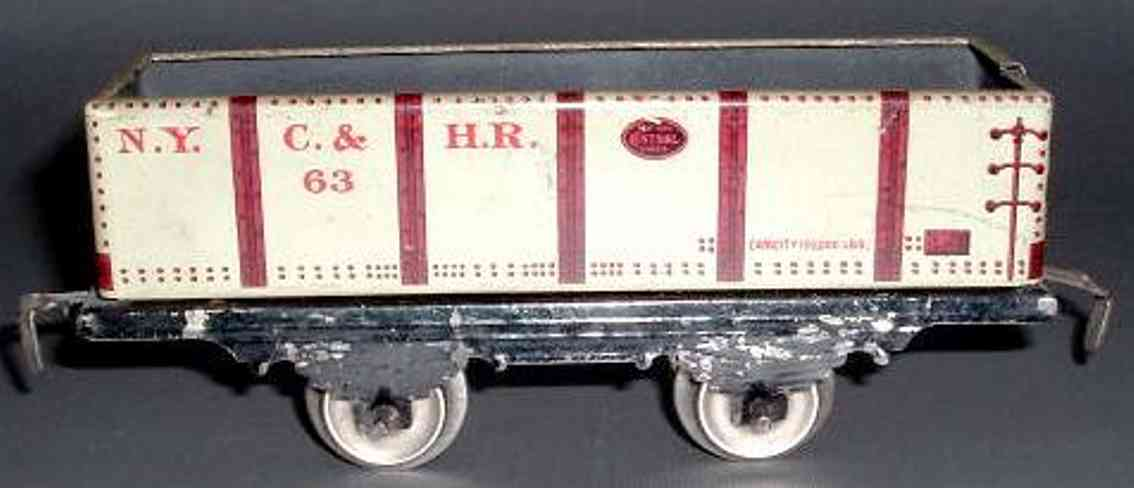 ives 563 (1915) railway toy gravel car, in the first years it was cataloged as no. 553.