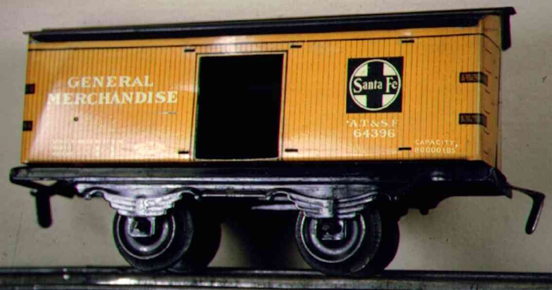 ives 554 (564) (1913) railway toy box car, in the first years it was cataloged as no. 554. ive
