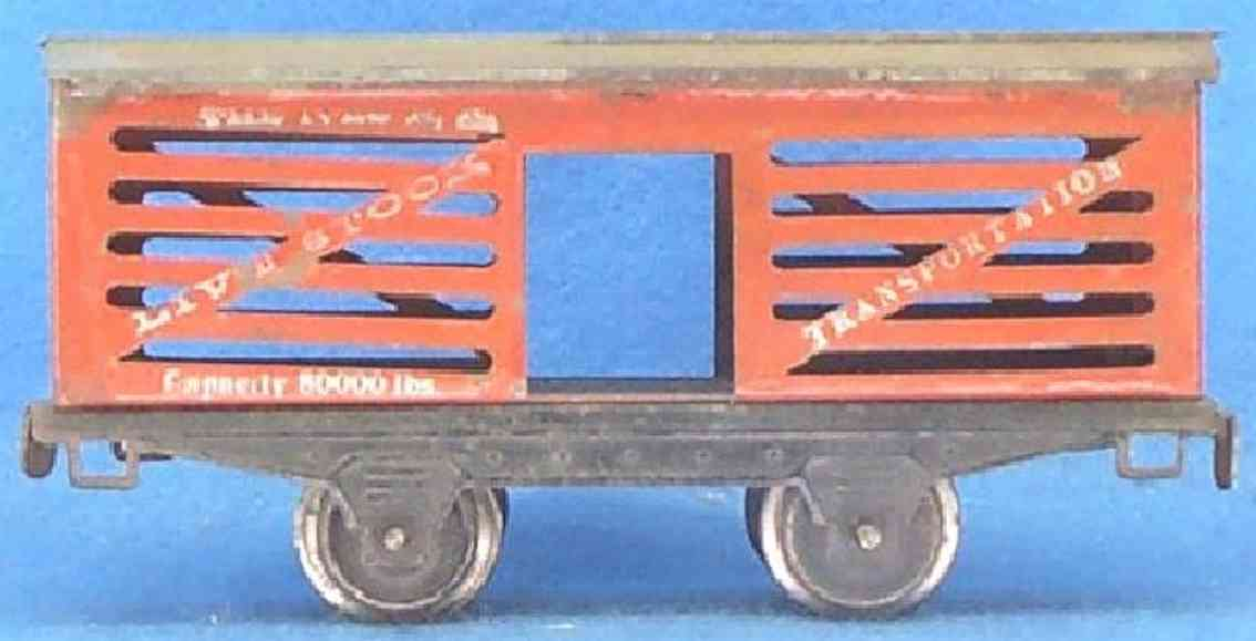 ives 565 (1915) railway toy stock car; 2-axis; with type ii frame