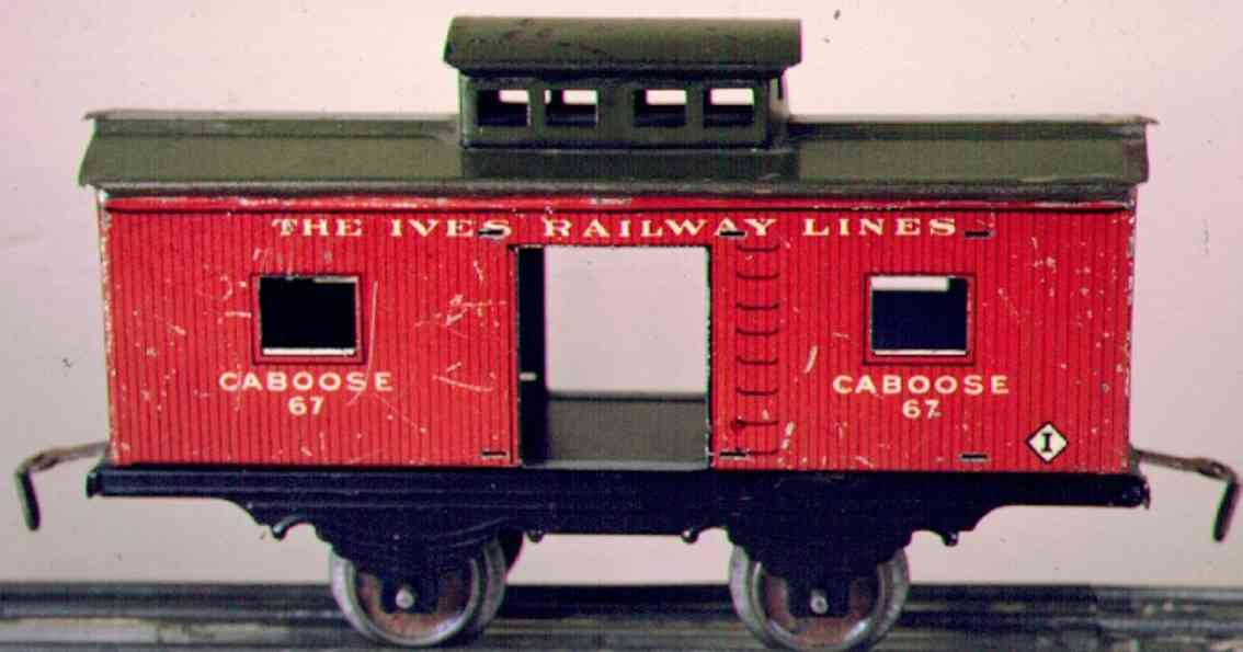 ives 557 (567) (1914) railway toy caboose, in the first 2 years it was cataloged as no. 557. i