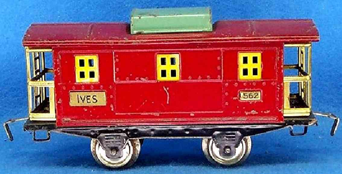 ives 562 1930 railway toy caboose red peacock gauge 0