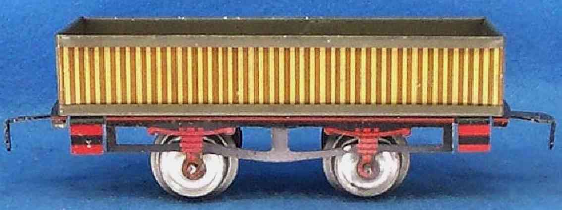 ives 63 1904 railway toy gondola striped gauge 0