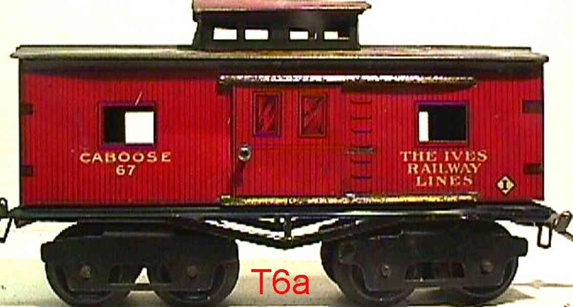 ives 67 1917 railway toy caboose red gauge 0