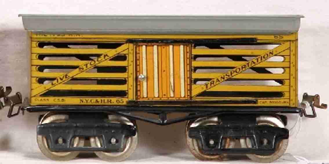 ives 65 railway toy stock car gauge 0