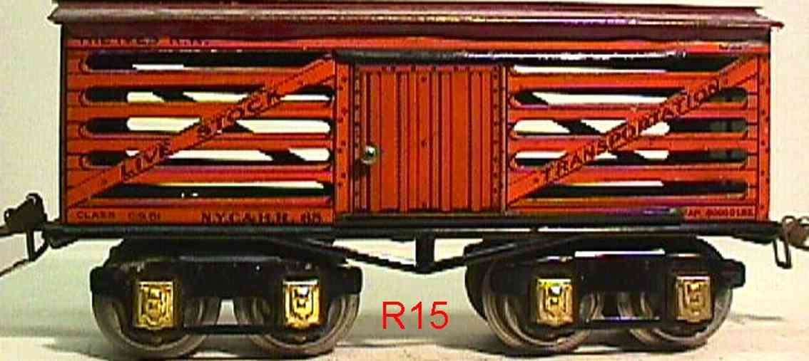 ives 65 1930 railway toy stock car gauge 0