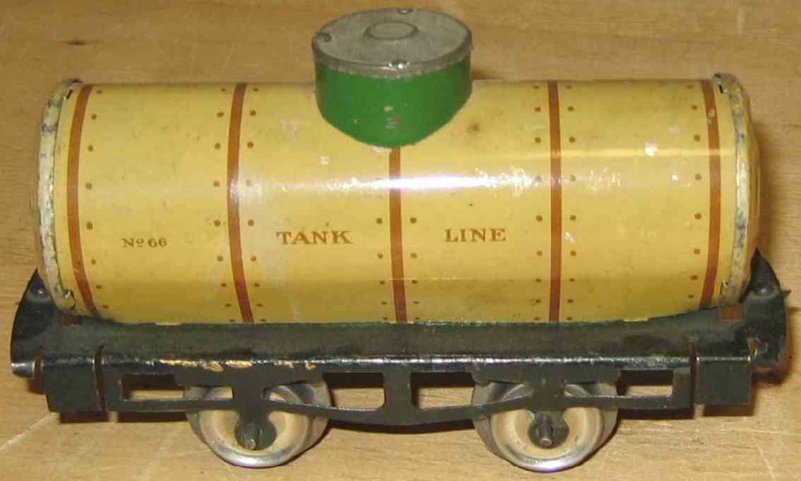 ives 66 1909 railway toy tank car