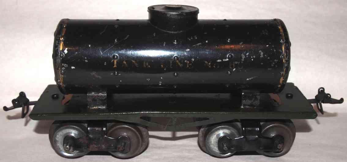 ives 66 1912 railway toy box car tank car black gauge 0