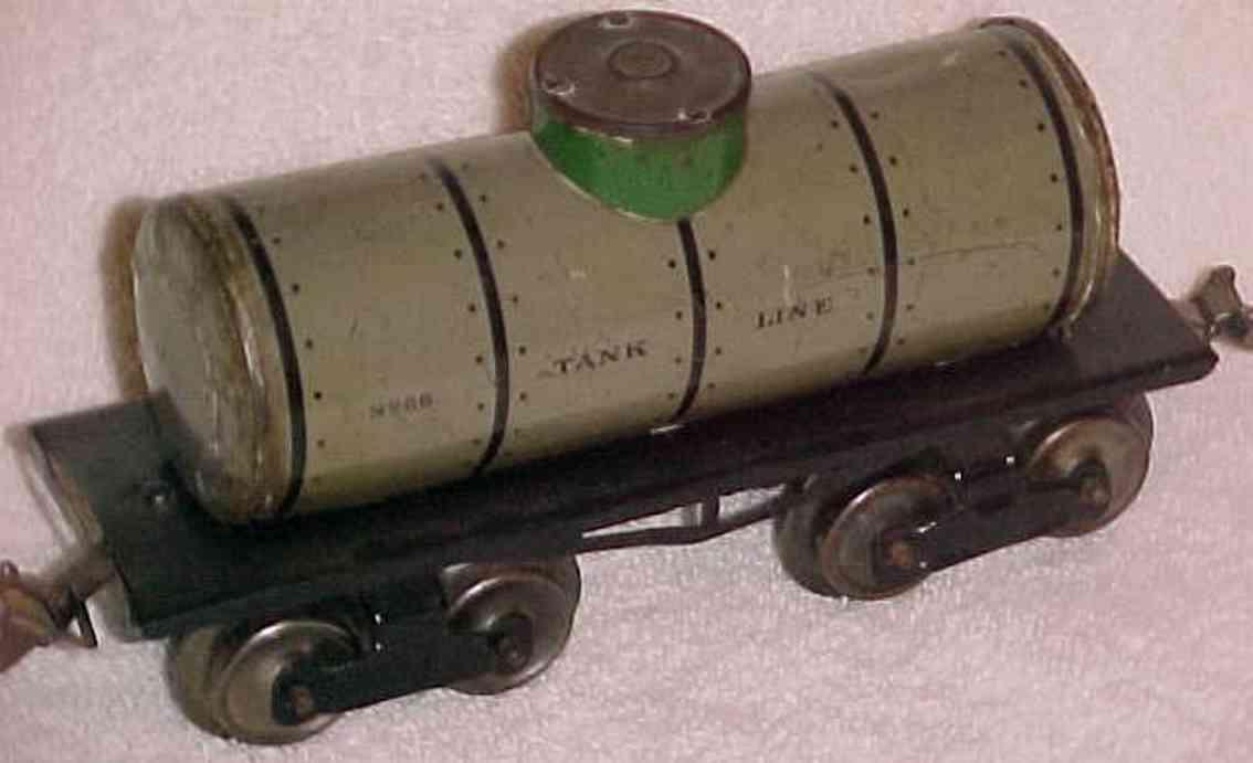 ives 66 1912 railway toy box car tank car gauge 0