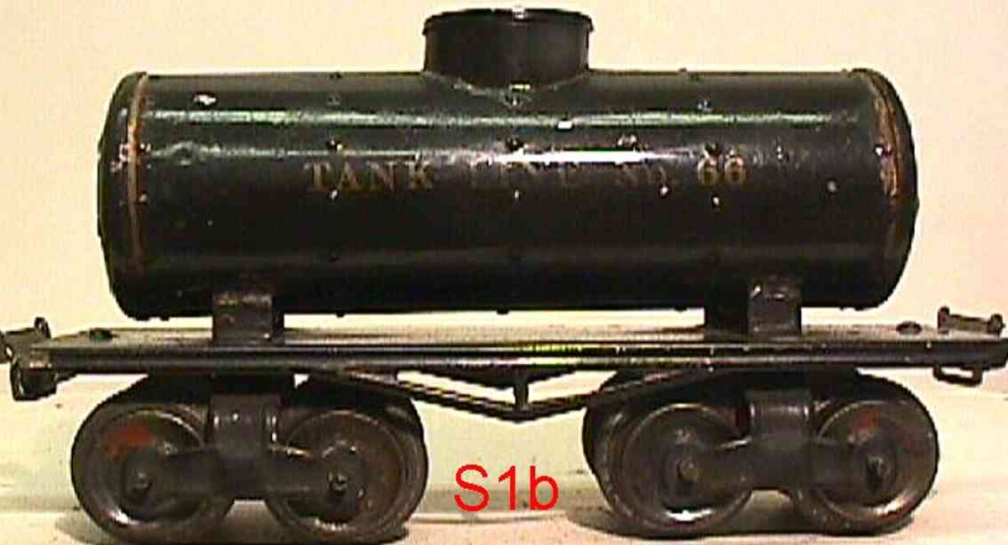 ives 66 1913 railway toy box car tank car olive gauge 0