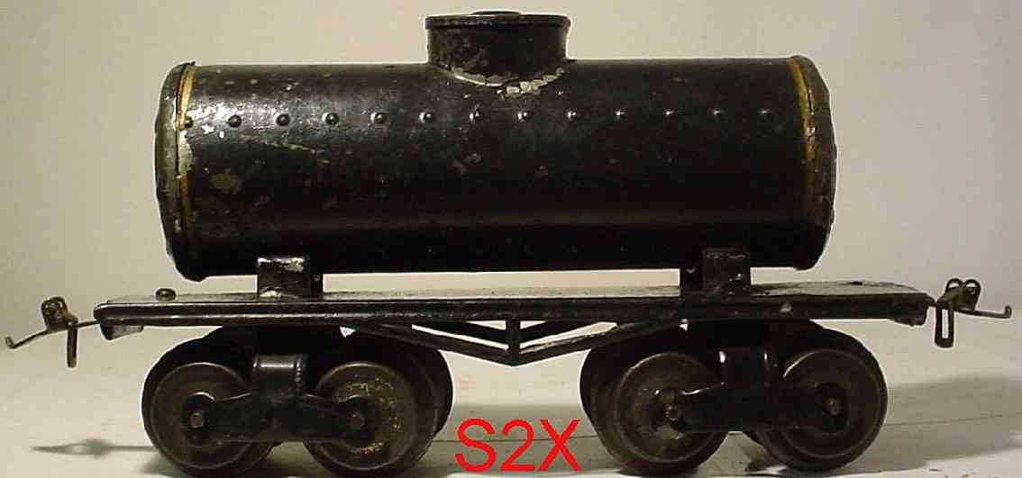 ives 66 1914 railway toy box car tank car olive gauge 0