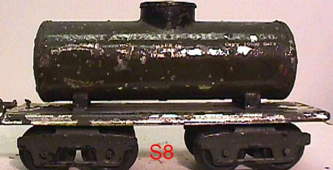 ives 66 1919 railway toy box car tank car olive gauge 0 standard oil co 66