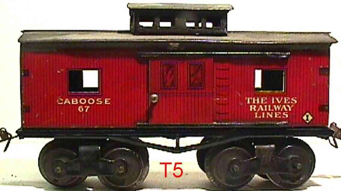 ives 67 spielzeug eisenbahn caboose rod schwarz spur 0