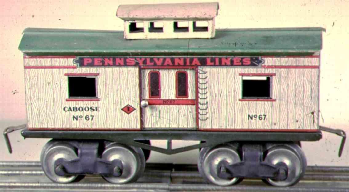 ives 67 1917 railway toy caboose gauge 0