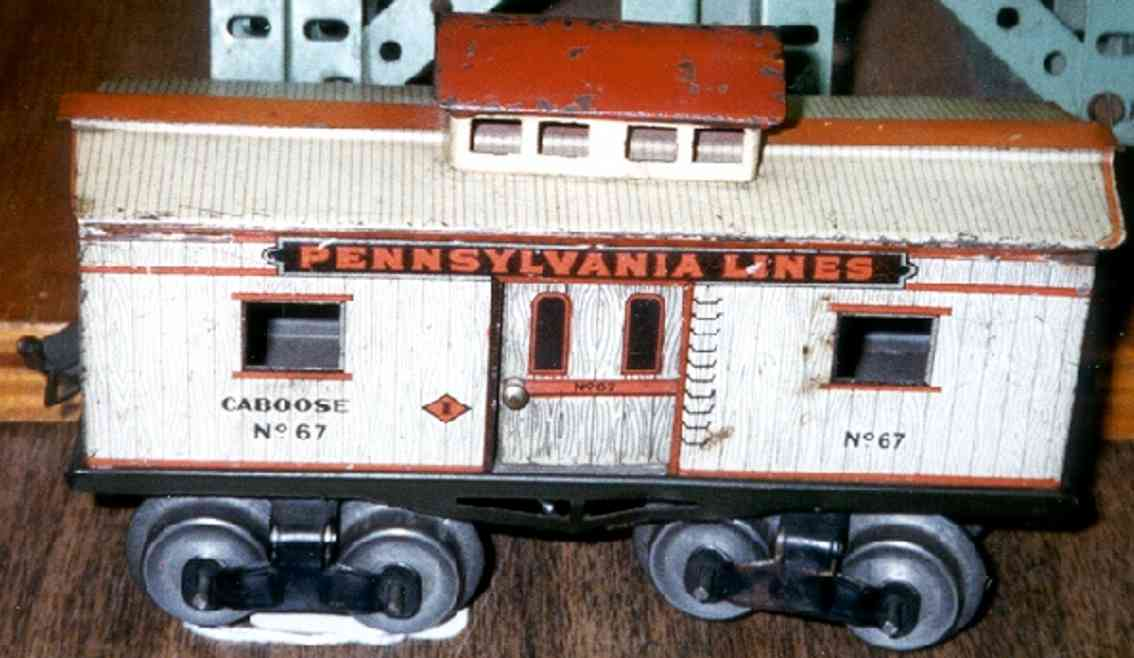 ives 67 1912 railway toy caboose gauge 0