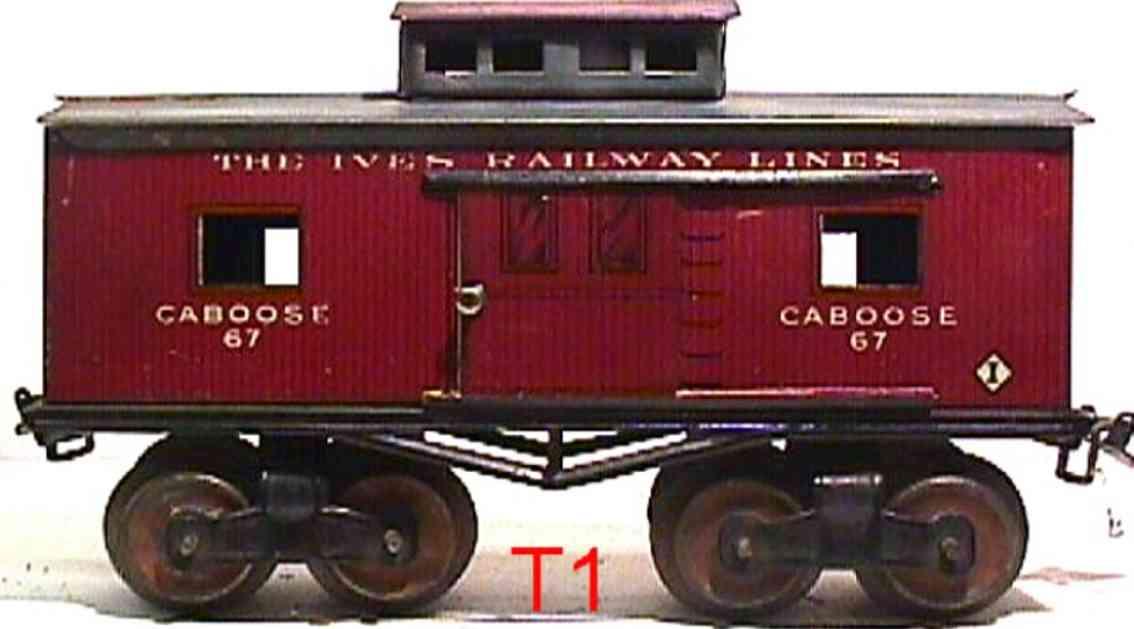 ives 67 1913 railway toy caboose gauge 0