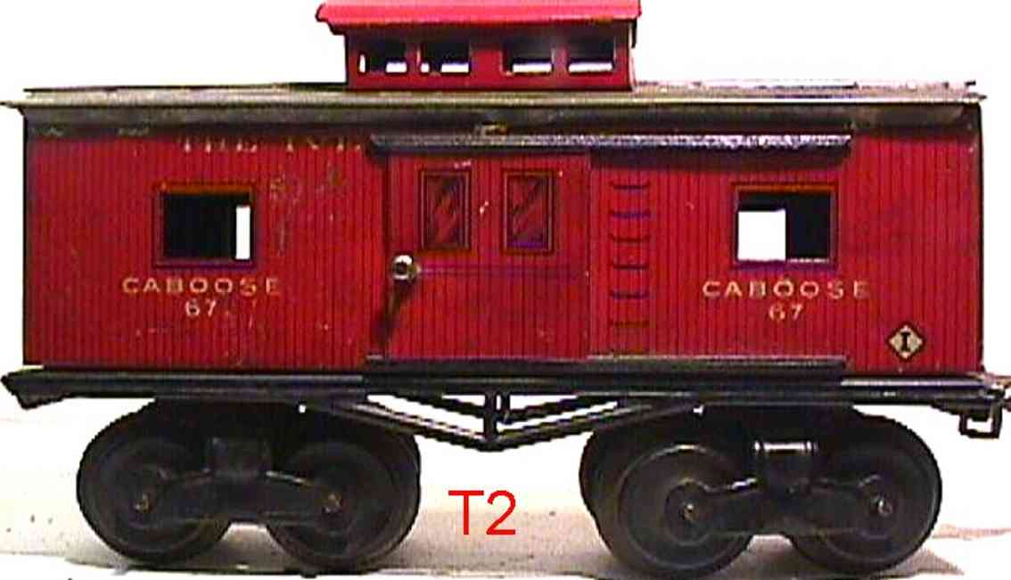 ives 67 1914 railway toy caboose gauge 0