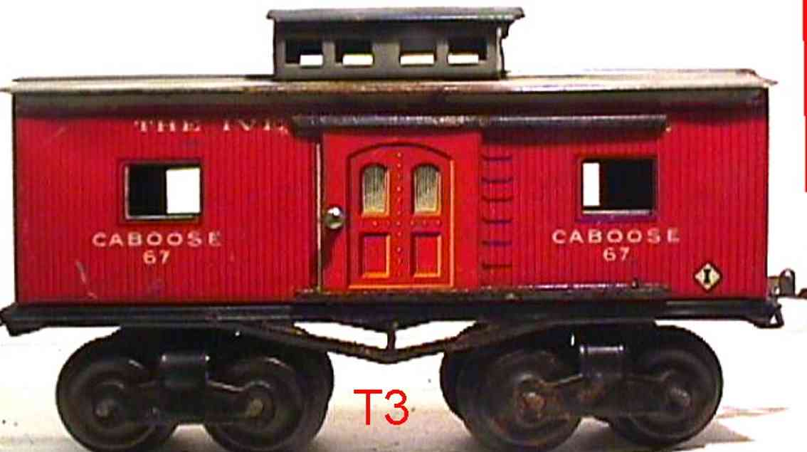 ives 67 1915 railway toy caboose gauge 0