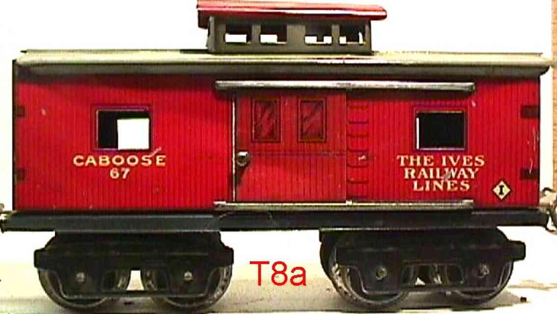 ives 67 1919 railway toy caboose gauge 0