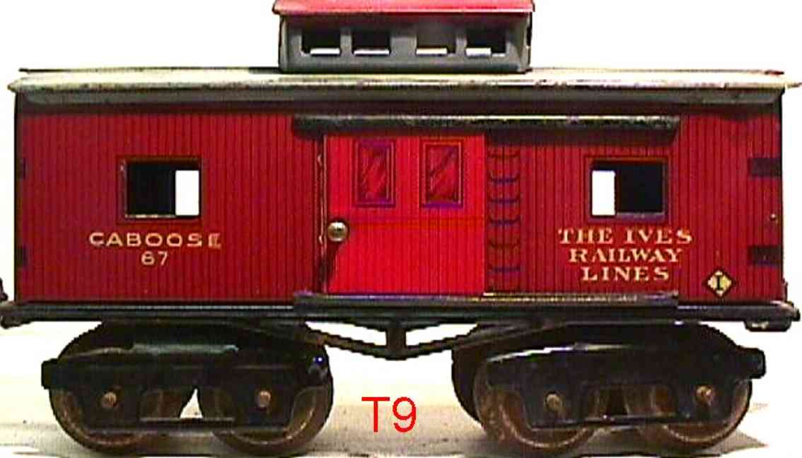 ives 67 1920 railway toy caboose brown gauge 0