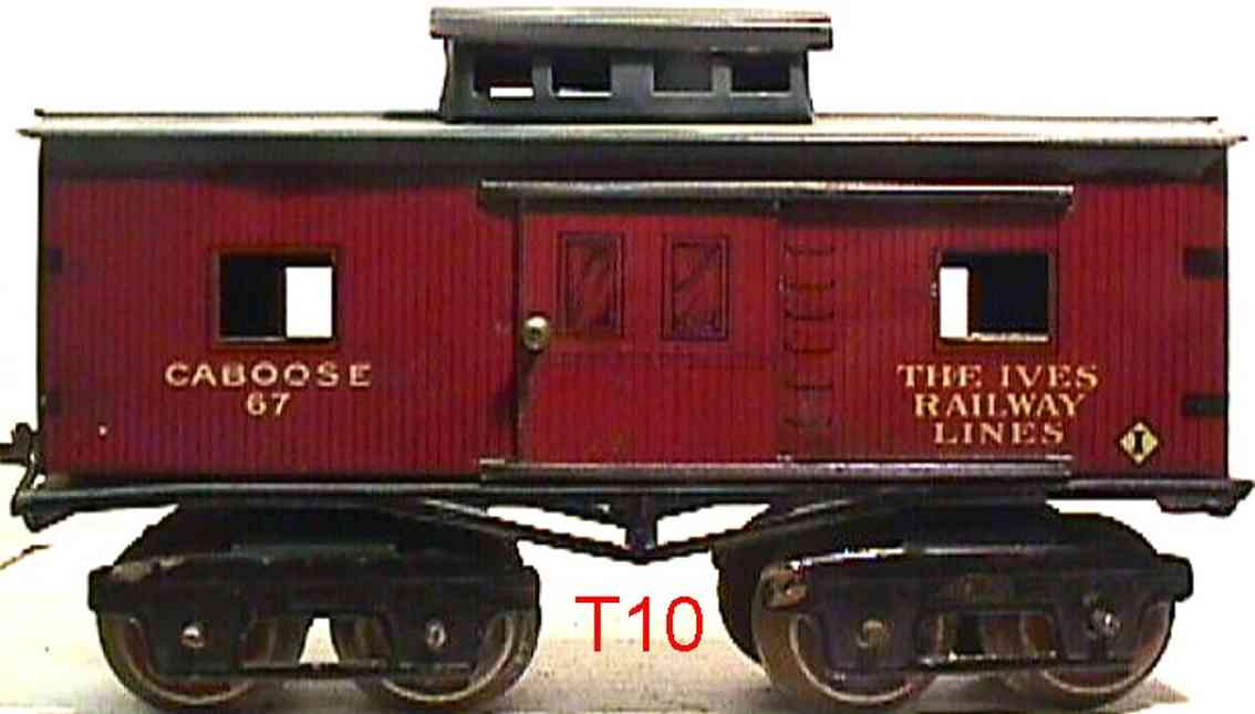 ives 67 1922 railway toy caboose gauge 0