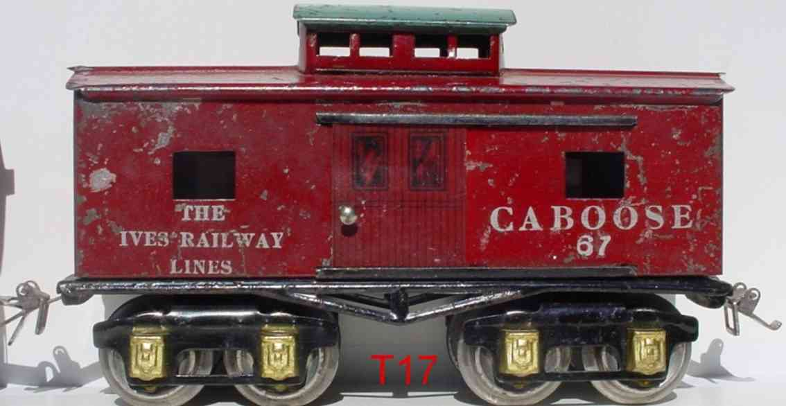 ives lionel 67 1928-1929 railway toy caboose red gauge 0