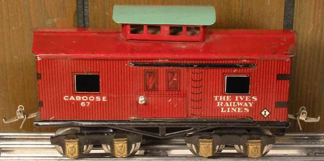 ives 67 1928 railway toy caboose gauge 0