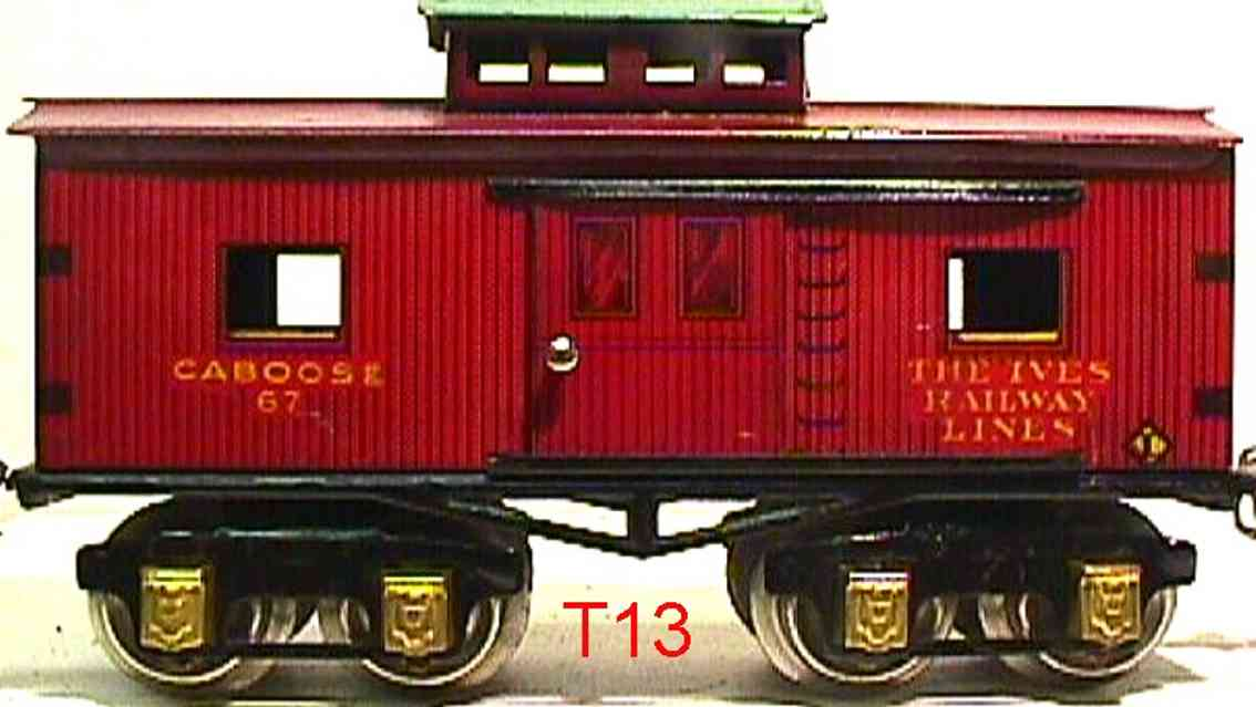 ives 67 1929 railway toy caboose gauge 0