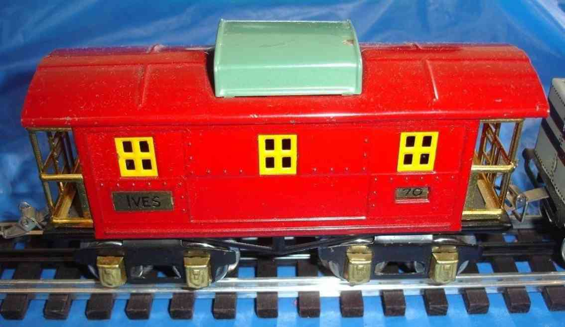 ives lionel 67 70 1930 railway toy caboose red gauge 0