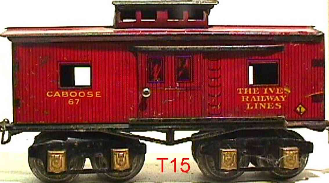 ives 67 1930 railway toy caboose red gauge 0